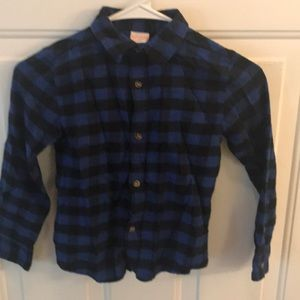 Jumping Beans Boys Long Sleeve Flannel Shirt